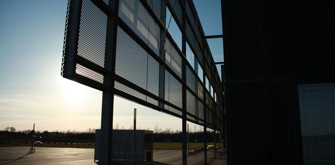 Perforated aluminium sheets used for special facade
