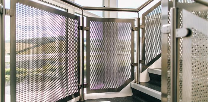 Perforated sheets for balustrades