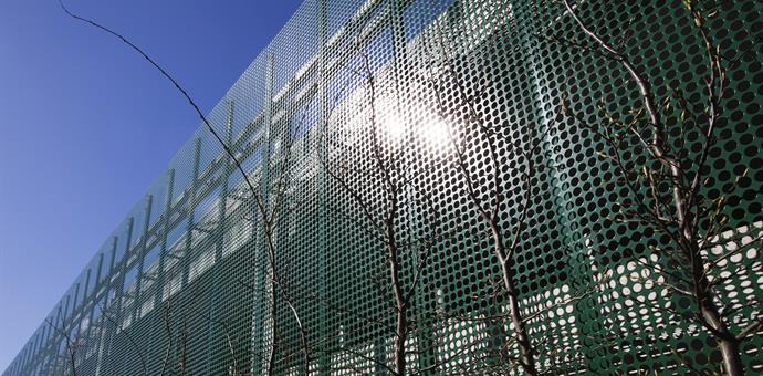 Perforated panels give a car park a contemporary feel