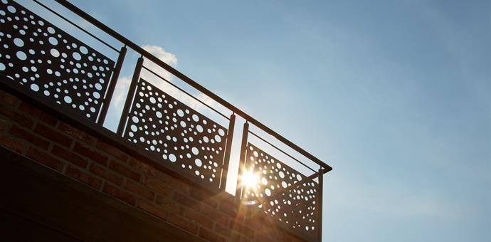 Decorative perforated sheets used for balcony