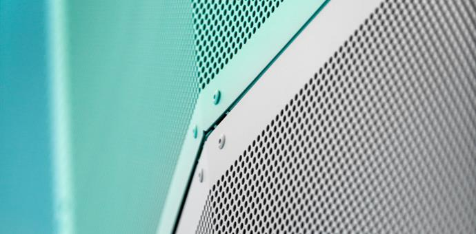 Perforated sheets used for decoration and sound absorption