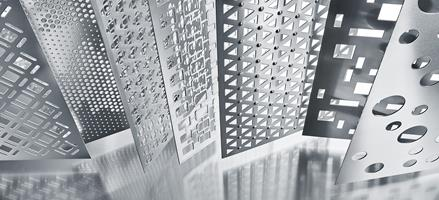 Decorative perforated patterns from RMIG