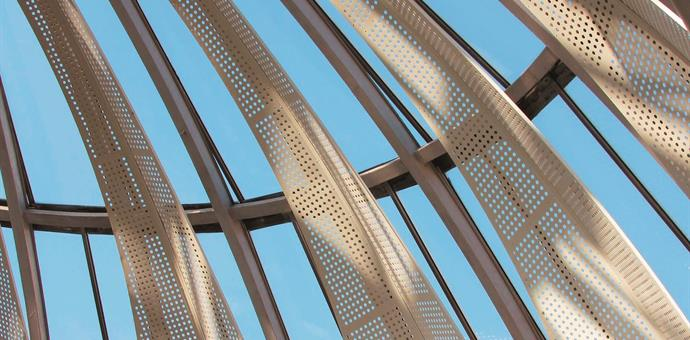 Perforated sun screens