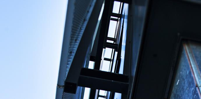 Bildperforering använd till fasad