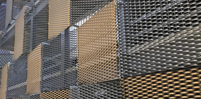 Expanded metal used for multi-storey car park