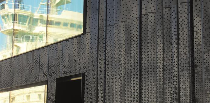 Perforated sheets designed to reflect a maritime theme