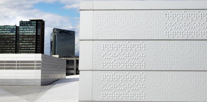 Fassadenbekleidung geprägte und perforierte