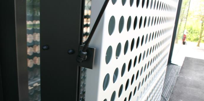 Sheets from RMIG with round hole perforation used for facade