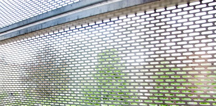 Perforated sun screens in stainless steel EN 1.4307, Université Catholique in Lyon, France