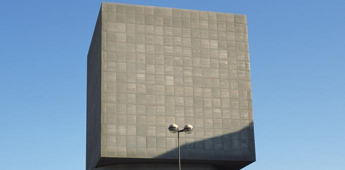 Perforated sheets for facade and sun shielding, Louis Nucéra Library